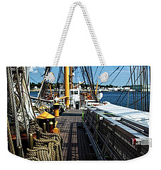 Weekender Tote Bag featuring the photograph Aboard The Eagle by Karol Livote