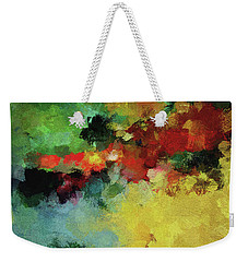 Weekender Tote Bag featuring the painting Abstract And Minimalist  Landscape Painting by Ayse Deniz