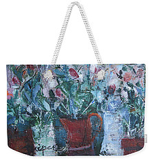Abstract Flowers Weekender Tote Bag by Betty Pieper