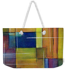 Weekender Tote Bag featuring the painting Abstract Line Series by Patricia Cleasby