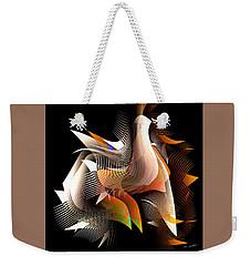 Abstract Peacock Weekender Tote Bag