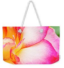 Abstract Rose Petals Weekender Tote Bag by Teri Virbickis