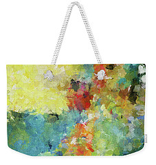 Weekender Tote Bag featuring the painting Abstract Seascape Painting by Ayse Deniz