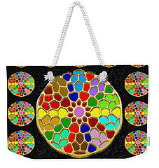 Acrylic Painted Round Colorful Jewel Patterns By Navinjoshi At Fineartamerica.com   Also Available O Weekender Tote Bag