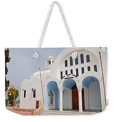 Agioi Anargyroi Church On Agistri Weekender Tote Bag