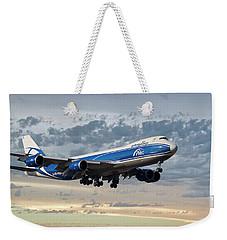 Air Bridge Cargo Airlines Boeing 747-8hv Weekender Tote Bag