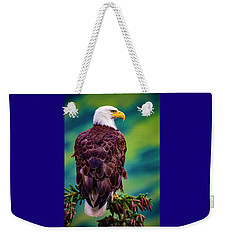 Alaska Bald Eagle Weekender Tote Bag