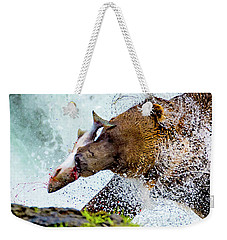Weekender Tote Bag featuring the photograph Alaska Brown Bear by Norman Hall