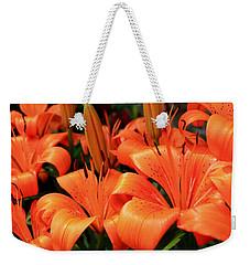 All Consuming Orange Weekender Tote Bag