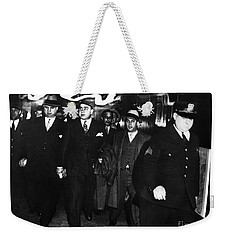 Weekender Tote Bag featuring the photograph Alphonse Capone (1899-1947) by Granger