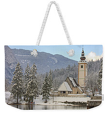 Weekender Tote Bag featuring the photograph Alpine Winter Clarity by Ian Middleton
