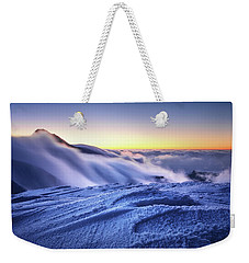 Amazing Foggy Sunset At Mountain Peak In Mala Fatra, Slovakia Weekender Tote Bag