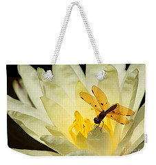 Amber Dragonfly Dancer 2 Weekender Tote Bag