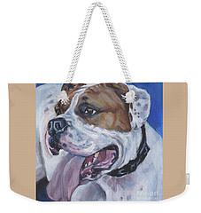 American Bulldog Weekender Tote Bag by Lee Ann Shepard