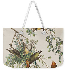 American Crossbill Weekender Tote Bag by John James Audubon