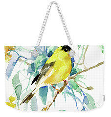 American Goldfinch Weekender Tote Bag by Suren Nersisyan