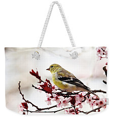 American Goldfinch In Spring Weekender Tote Bag by Trina Ansel