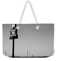 Weekender Tote Bag featuring the photograph American Interstate - Kansas I-70 Bw 4 by Frank Romeo