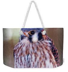 American Kestrel Weekender Tote Bag by Elaine Malott