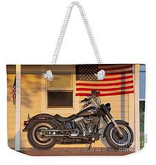 American Pride. Harley Davidson Weekender Tote Bag by George Robinson