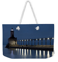 An Evening At The Lighthouse Weekender Tote Bag