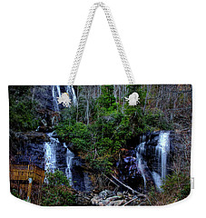 Weekender Tote Bag featuring the photograph Anna Ruby Falls by Barbara Bowen