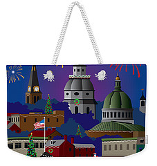 Annapolis Holiday Weekender Tote Bag