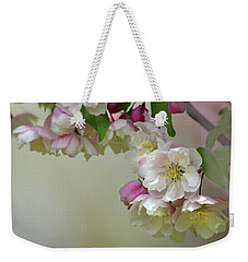 Weekender Tote Bag featuring the photograph Apple Blossoms  by Ann Bridges