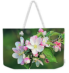 Weekender Tote Bag featuring the photograph Apple Blossoms by Kristin Elmquist