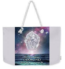 April Birthstone Diamond Weekender Tote Bag