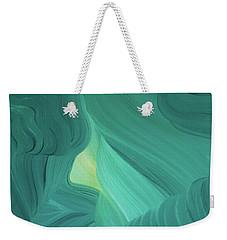 Aquamarine Vista Weekender Tote Bag