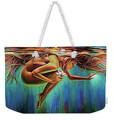 Aquarian Rebirth Weekender Tote Bag