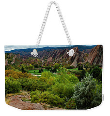 Weekender Tote Bag featuring the photograph Arrowhead by Kristal Kraft