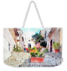 Arzachena Staircase And Church Of The Santa Lucia Weekender Tote Bag