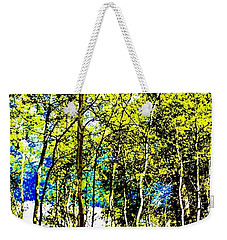 Aspen Forest Abstract Weekender Tote Bag