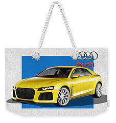 Audi Sport Quattro Concept With 3 D Badge  Weekender Tote Bag