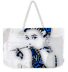 Audrey Hepburn Breakfast At Tiffany's Quotes Weekender Tote Bag