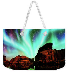 Aurora Over Lagoon Weekender Tote Bag