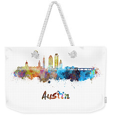 Austin Skyline In Watercolor Weekender Tote Bag