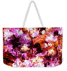Autumn Floral Abstract Art Weekender Tote Bag by Annie Zeno