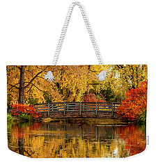 Autumn In The Park Weekender Tote Bag by Teri Virbickis