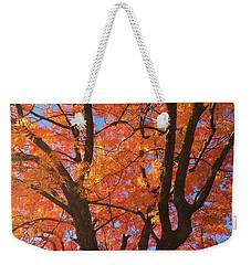 Autumn Orange Weekender Tote Bag