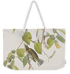 Autumnal Warbler Weekender Tote Bag by John James Audubon