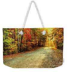 Autumns Path Weekender Tote Bag