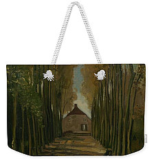 Weekender Tote Bag featuring the painting Avenue Of Poplars In Autumn Nuenen, October 1884 Vincent Van Gogh 1853 - 1890 by Artistic Panda