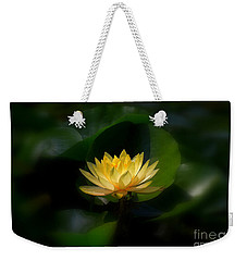 Yellow Lotus Weekender Tote Bag