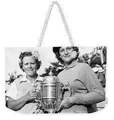 Patty Berg And Babe Didrikson Weekender Tote Bag