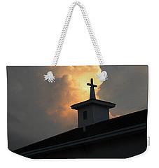 Reaching Baby Angel At The Cross Weekender Tote Bag