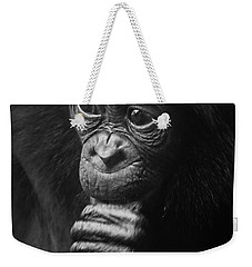 Weekender Tote Bag featuring the photograph Baby Bonobo Portrait by Helga Koehrer-Wagner