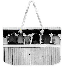 Weekender Tote Bag featuring the photograph Back To Backs by John Williams